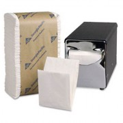 B - 9 X 12 Low Fold White Napkins, 8000 Ct