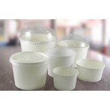 White Paper Food (Yogurt) Containers