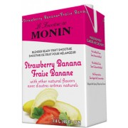 Strawberry Banana Fruit Smoothie Mix, 6/46 Oz Monin