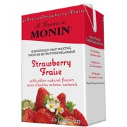 Strawberry Fruit Smoothie Mix, 6/46 Oz Monin