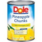 Dole Pineapple Chunks In Juice 4/20 Oz Jars - 16506