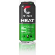 CELSIUS, HEAT CHERRY LIME 12/16OZ