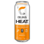 CELSIUS, ORANGE DRINK, 12/12OZ