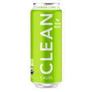 CLEAN CAUSE LEMON LIME SPARKLING YERBA MATE, 12/16OZ.