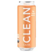 CLEAN CAUSE PEACH SPARKLING YERBA MATE, 12/16OZ.