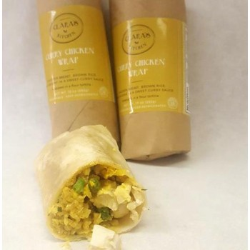 CURRY CHICKEN WRAP 12/8 OZ - CLARA'S KITCHEN
