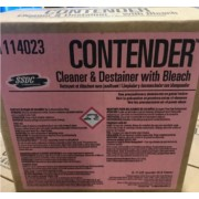 RESTROOM CONTENDER CLEANER W/ BLEACH, 6/1 QT