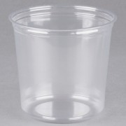FABRI-KAL 24 OZ  CLEAR DELI CONT, 20/25 CT -