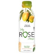 ORGANIC ROSE WATER MANGO BEVERAGE 12/12 OZ - H2ROSE