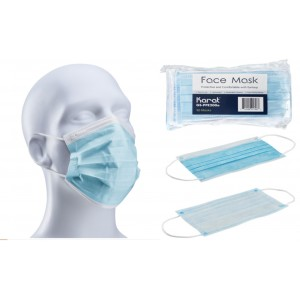 FACE MASKS WITH EAR LOOPS 3 PLY 50CT