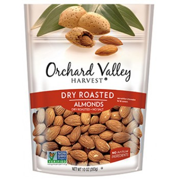 ORCHARD VALLEY DRY ROASTED ALMONDS , SEA SALTED, 12/2OZ