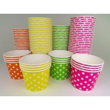 Polka Dot Fun Cups - Colors (Frozen Yogurt Cups)