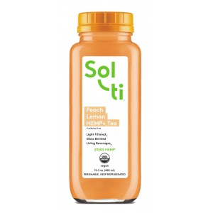 SOL-TI PEACH LEMON HEMP + TEA ORGANIC 6/15.5