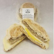 TURKEY SAUSAGE BREAKFAST SANDWICH 12/5 OZ - GALANT