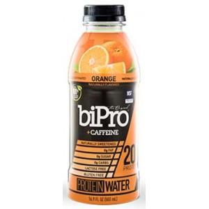 BIPRO ORANGE PROTEIN CAFFEINE WATER, 12/16.9 OZ