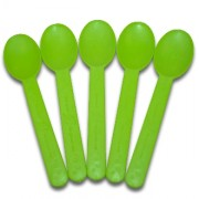 COMPOSTABLE GREEN HEAVY WEIGHT SPOONS, 1000CT-