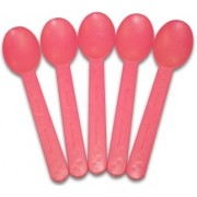COMPOSTABLE PINK HEAVY WEIGHT SPOONS, 1000CT-