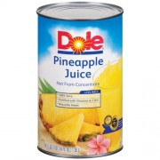 JUICE, DOLE PINEAPPLE 100% 12/46 OZ. CANS