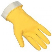 Yellow Lined Latex Gloves - 1ct.