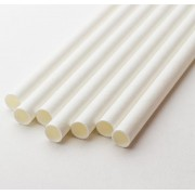 "STRAWS, PAPER GIANT 7.75"" (8mm) WHITE WRAPPED 4/500CT"