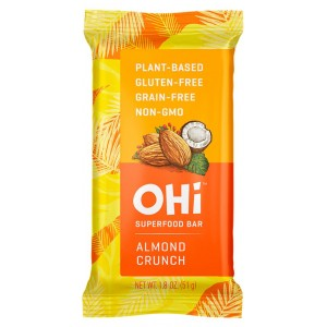 OHI BARS, ALMOND CRUNCH GF, VEGAN 8/1.8 OZ