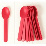 COMPOSTABLE TOMATO RED HEAVY WEIGHT SPOON 1000 CT