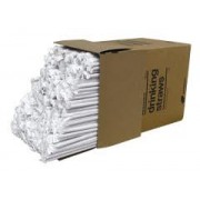 "B - Giant Clear 10 1/4""  Wrapped Straws 300Ct."